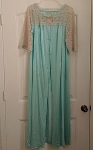 Vintage Lace Accented Robe